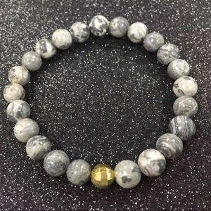 5/$25 🖤 Marble Beaded Bracelet Black & White